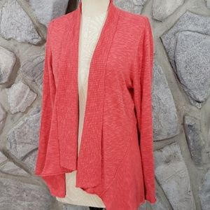 Eileen Fisher Coral Cotton/Linen Cardigan